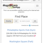 Accessible web search form prototype developed for map4access