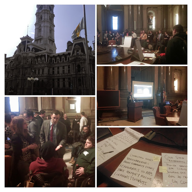 Friday night community needs assessment at Philadelphia City Hall
